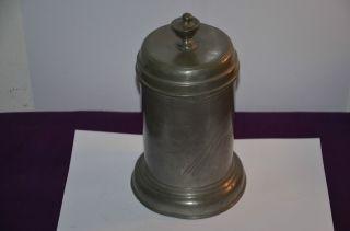 Antik Zinn Deckeldose Um 1820,  824 G H = 21,  5 Cm Bild