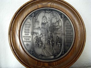 3 Wmf Zinn Teller Carl Spitzweg 1808 - 1885 Bild