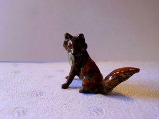 Kleiner Fuchs Wolf Hund Um 1900 Aus Metall Wiener Bronze ??? Bild