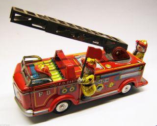 Tintoy,  Blechspielzeug,  Feuerwehr Fd 24670,  Friktion,  Nomura Toys,  Made In Japan Bild