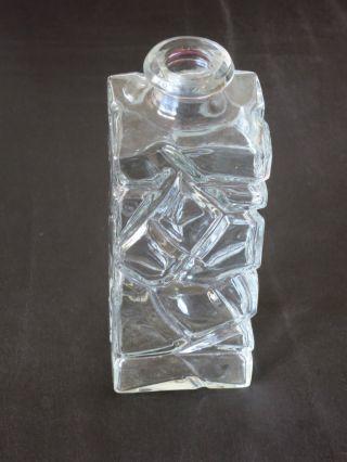 Design Glasflasche Mit Aufwändiger Verzierung - Korkenverschluss - Klar Bild
