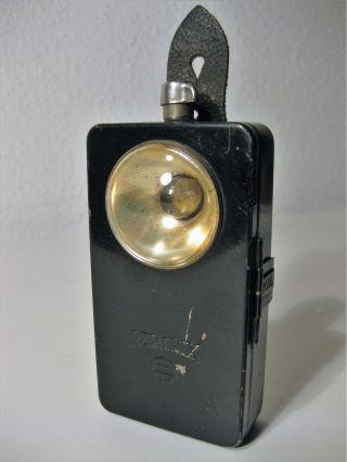 Alte Pertrix Taschenlampe Nr.  666 Flachbatterie Leuchte Wehrmacht Bild