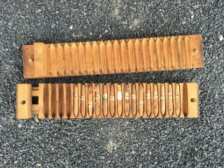 Sehr Dekorative Zigarrenpresse Aus Holz Mit Inhalt Bild