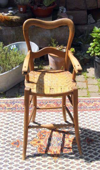Pfälzer Stuhl Alter Bauernstuhl Biedermeier Kinderstuhl Puppen Teddy Bären Stuhl Bild