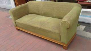 Chesterfield Clubsofa Art Deco Sofa Um 1920 - 30 Eiche Bild