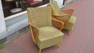 2 Clubsessel Sessel Rockabilly Ära Um 1940 - 50 Bild