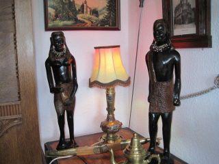 Zwei Alte Antike Krieger Mit Frau 60,  Cm Bild