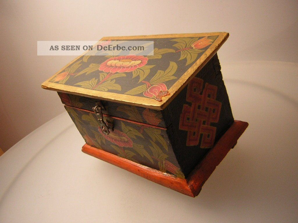 schmuckkiste truhe aus tibet tibet wooden jewelry box. Black Bedroom Furniture Sets. Home Design Ideas