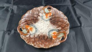 Schöne Alte Keramikschale Obstschale Carstens ? Georgenthal 30er - 40er Uranglasur Bild
