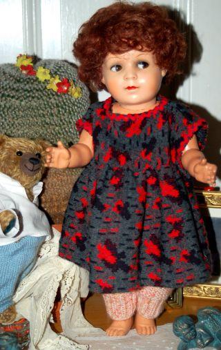 Süsses Altes Puppenmädchen Mit Kurbelkopf - Schelmenaugen - Gemarkt Germany Bild