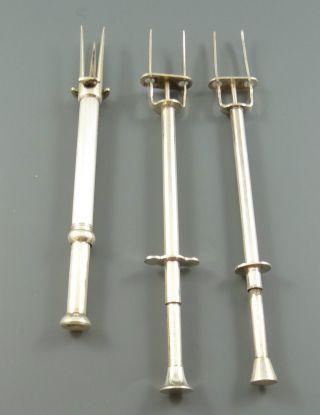 3 X Vorlegegabel 1x Silber 935er 18,  65g 1x Wmf18,  15g 1x Versilbert 19,  75 (vs451) Bild