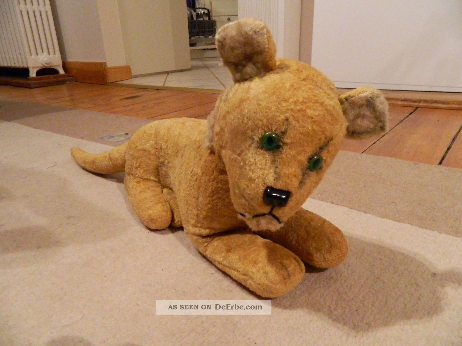 Nachlass - Sehr Selten Bildschöner Grosser Löwe Um 1920 - - Rarität Stofftiere & Teddybären Bild