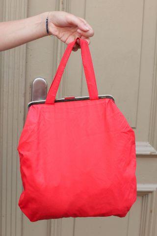 Handtasche Handbag Bag Beauty - Case Kosmetik Tasche Handtasche 70er True Vintage Bild
