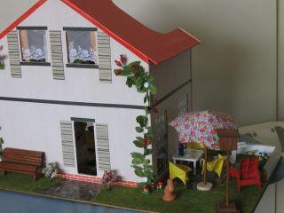 Haus Mit Garten,  Eingerichtet Lisa,  Lundby - Möbel Puppenstube - Puppenhaus Bild