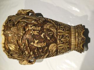 Dachbodenfund Alte Vase Aus China/asien Aus Speckstein Mit Verzierung Bild