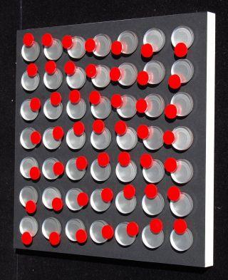 Wandobjekt,  Konkrete Kunst,  Op Art,  Kunststoff,  Handsigniert,  H.  Heinecke,  D62 Bild