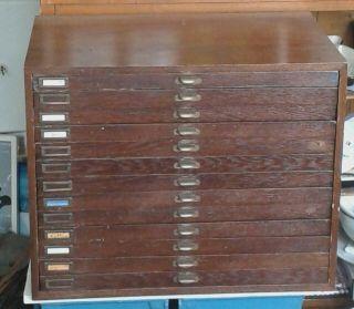 Alter Schubladenschrank Aus Juweliergeschäft Alt Vintage Shabby Industrie Design Bild