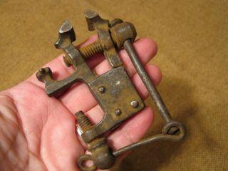 ▀ ▀ ▄ ▄ Rarität Alter Minischraubstock Um 1700 - Aus Goldschmiedenachlaß Bild