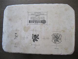 Steindruck - Platte