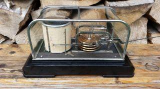 Barograph Barometer Uhr Dosen Mechanik Mechanisch Art Deco Trommelschreiber Luft Bild