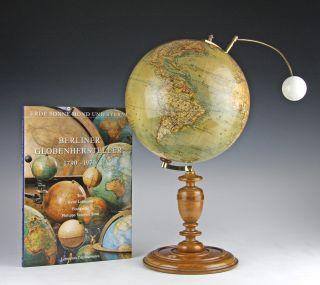 Seltener Globus Lunarium Heymann C.  1900 Mappemonde Rare Globe Globo Terraqueo Bild