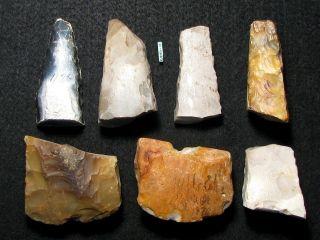 Steinzeit Sammlung Von 1870 (?) Beile,  Meisel Neolithikum Feuerstein Flint Bild