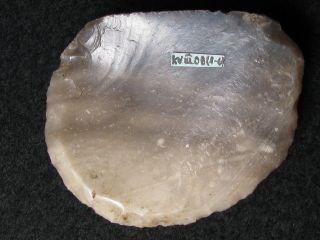 6800j.  A: WunderschÖn Diskoid Kratzer Steinzeit Mesolithikum Silex Feuerstein Bild
