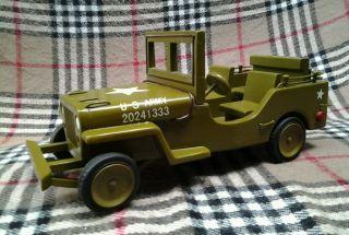Großer Willys Mb Jeep 1:10 Holzspielzeug Hugo Koch,  38cm,  Rarität,  Gt. Bild