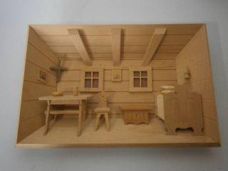 Wandbild - 3d Holzbild - Stube Natur - Handarbeit - 27 X 18,  5 Cm Bild