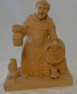 Schnitzerei Mönch,  Holzschnitz,  Schnitzfigur,  Mönchsfigur Geschnitzt, Bild