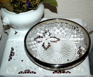 Wunderschöne Kristallschüssel Schale Silbermontierung Jugendstil - Wmfn Gepunzt Bild