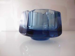 Art Deco Moser Aschenbecher / Glas BÖhmen / Blau Bild