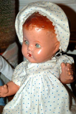 Niedliche Alte Babypuppe - Puppe Aus Masse Mit Igodikopf - Gemarkt B.  N.  D.  London Bild