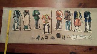 Ankleidepuppe Aus Papier Um 1900 Soldat Anziehpuppe Schreibers 3845 Bild