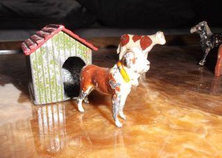 Britains Bernhardiner Mit Hundehütte Made In England 50er Jahre Bild