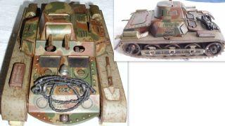 Alter Gescha Patent Panzer 65 - 6.  19,  5 X 11 X 9 Cm Ohne Schlüssel.  Umber,  Gebr. Bild