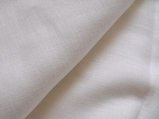 100 Leinen Stoff Rest Weiß,  Bauernleinen,  B 210cm L 200 Cm,  Uni,  Toll Bild