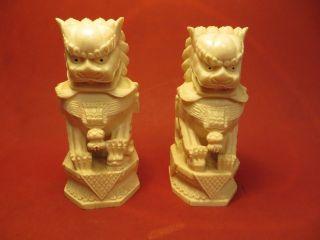 Beinfiguren - Paar Chinesische Tempelwächter - Fo Hunde - Signiert - Um 1900 - Art.  2841 Bild
