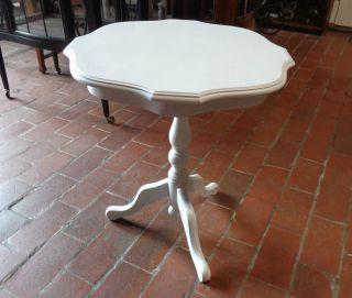 Alt Runder Beistelltisch Tisch Shabby Chic D 118 Bild