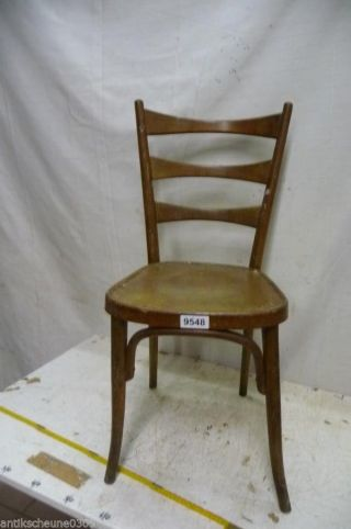 9548.  Alter Bugholz Stuhl Old Wooden Chair Bild