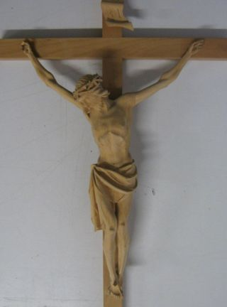 93cm Holzkreuz Kruzifix Jesus Christus Handgeschnitzt Jesuskreuz Inri Wandkreuz Bild