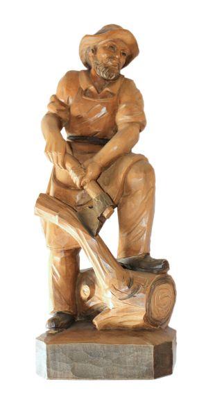 Holzschnitzfigur - Holzschnitzerei - Wood Carving - Woodchopper Bild