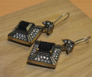 Antik Ohrstecker Ohrringe Silber Handarbeit 925 Mit Gold Earrings Orecchin Bild