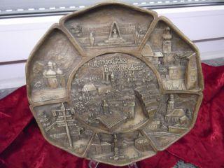 Großer Sammelteller Wandteller Zierteller Reliefteller 3d - Motive Wie Aus Holz Bild