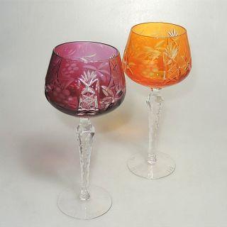 2 X Kristall Römer Kelch Weinglas Schleuderstern Ca.  20 X 8 Cm Bild
