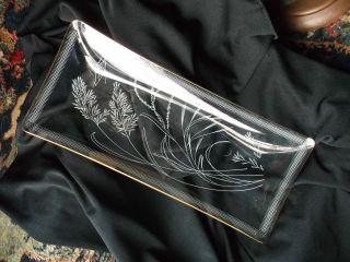 Brillanter Fadenglas Teller,  Kuchenteller M.  Goldrand,  Ein Der Zeit,  Antik Bild