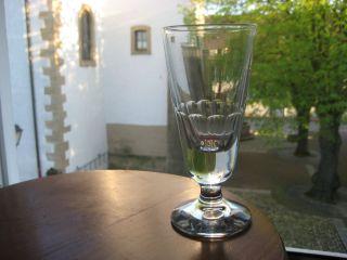 1 Glas (kelchglas) - Facettiert - Alt - Groß - Bistro/absinth? - Frankr.  15,  5/320 Bild