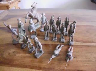 Elastolin Lineol Masse Wk2 Soldaten Heer Konvolut 6,  5 Cm Und 7,  5 Cm (2x) Serie Bild