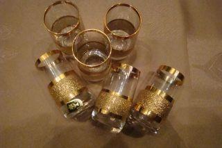Bohemia Kristall Gläser,  Likör Schnaps Gold,  6 Stck,  Cssr Bild