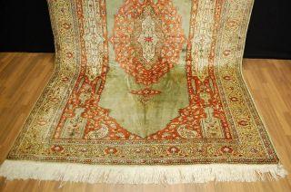 Orginaler TÜrkischer Kayseri Floschseiden Teppich Ca: 300x190cm Bild